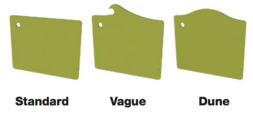les formes des portes de cloisons sanitaires gamme maternelle