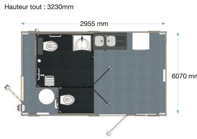 bloc sanivulcain plan dimensions