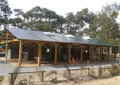 installation d'un bloc sanitaire pour un camping dans les Landes