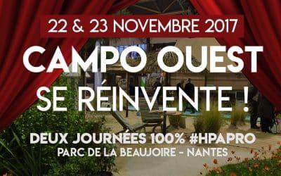 Rendez-vous à Campo ouest à Nantes les 22 et 23 novembre 2017