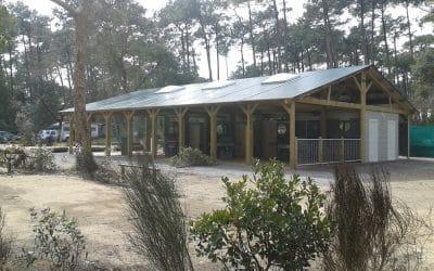 Installation d'un Bloc Sanitaire spécifique dans un Camping des Landes