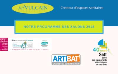 Le programme des salons de KVI en 2018