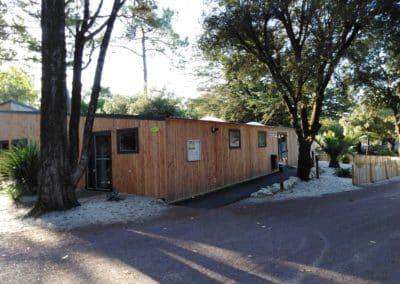 blocs sanitaires préfabriqués pour hotellereie de plein air