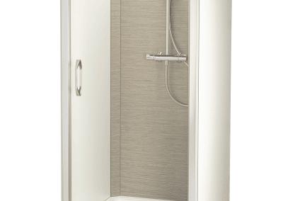 cabine douche autoportée en panneaux compact