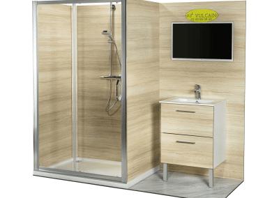 Salle de bains KVI douche et lavabo