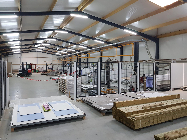 Atelier de fabrication des cabines sanitaires KVI