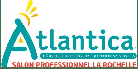 Logo salon Atlantica pour l'hôtellerie de plein air